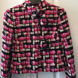 Carlisle Woven Pink & Black Plaid Jacket